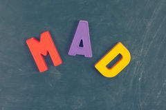 Mad Letters Royalty Free Stock Image