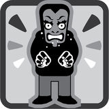 Mad man icon Stock Photo