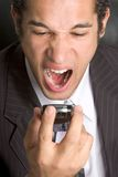 Mad Phone Man Royalty Free Stock Photos