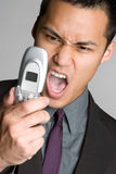 Mad Phone Man Stock Images