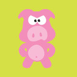 Mad Pig/Swine. An illustration of an angry pig Royalty Free Stock Photography