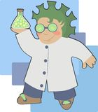 The mad professor Royalty Free Stock Images