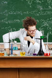 Mad professor laughs Royalty Free Stock Photo