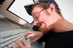 Mad Programmer Royalty Free Stock Photo
