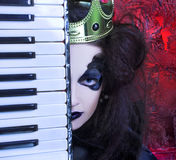 Mad queen. Royalty Free Stock Photos