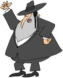 Mad Rabbi. This illustration depicts a mad Jewish Rabbi shaking his fist Royalty Free Stock Photography