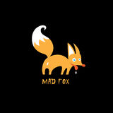 Mad red fox logo Stock Image