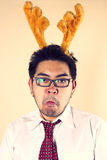Mad reindeer Royalty Free Stock Photo