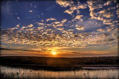 Mad River Sunset. Sunset over the Mad River, Humboldt County, California Royalty Free Stock Photos