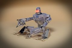 Mad Robot. A virus seeker and destroyer robot Royalty Free Stock Photo