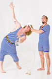 Mad Sailor. Theatrical actors posing as mad sailor boys Royalty Free Stock Image