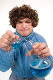 Mad scientist. Funny looking young man playing mad scientist Stock Photo