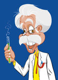 Mad scientist. Vector illustration Mad scientist with test tube Royalty Free Stock Image