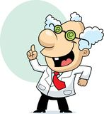 Mad Scientist. A cartoon mad scientist with an idea Royalty Free Stock Photos
