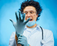 Mad scientist Royalty Free Stock Photos