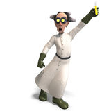 Mad scientist with dangerous fluid Royalty Free Stock Photos