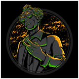 Mad Scientist. Hand drawing mad scientist illustration with high detail graphic vector illustration