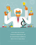 Mad Scientist - Research, Bio Technology Stock Image