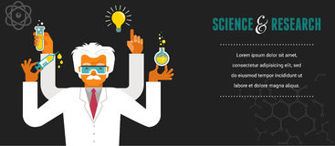 Mad Scientist - Research, Bio Technology Royalty Free Stock Image