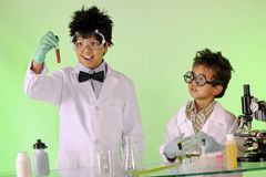 Mad Scientists at Work Stock Photography