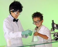 Mad Scientists Working Together Royalty Free Stock Photo