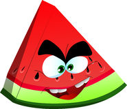 Mad slice of watermelon Stock Image
