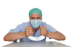 Mad surgeon Royalty Free Stock Photos