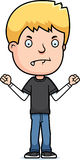 Mad Teen Boy. A cartoon illustration of a teenage boy looking mad Royalty Free Stock Images