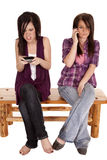 Mad Texting Royalty Free Stock Images