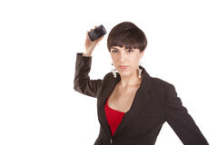 Mad throwing phone Stock Photos
