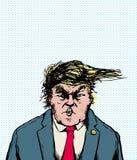 Mad Trump Hair Blowing Sideways Stock Photos