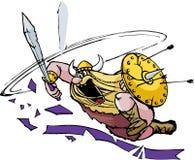 Mad Viking Attack Stock Photo