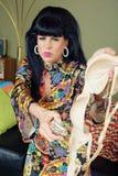 Mad Woman Burning Bra Royalty Free Stock Photo