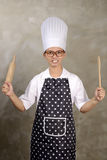 Mad Woman Chef Royalty Free Stock Photography