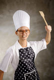 Mad Woman Chef Stock Images