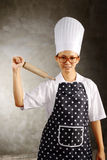 Mad Woman Chef Royalty Free Stock Photo