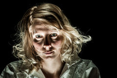 Mad Woman with Emotional Disorder Stock Image