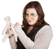 Mad Lady Sticking Doll Stock Photos