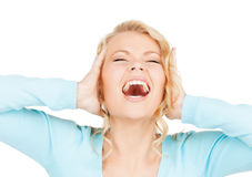 Mad woman Royalty Free Stock Photography