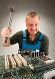 Mad IT worker Stock Images