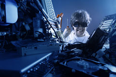 Mad IT worker Royalty Free Stock Photos