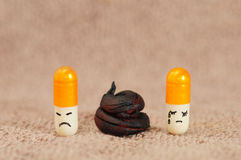 Mad at you. Capsule pills mad at you Royalty Free Stock Images