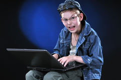 Mad Young Hacker Stock Image