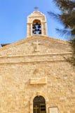 Madaba för torn för St George ` s kyrkliga Klocka Jordanien Arkivbilder