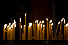 Madaba - Jordan. Candles in the church, Madaba, Jordan Royalty Free Stock Photography
