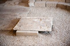Apostle's church in Madaba. MADABA, JORDAN - APR 28, 2014: Apostle's church in Madaba, Jordan. Madaba is called 'the city of Mosaics Royalty Free Stock Photo