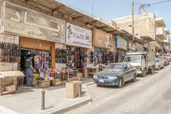 MADABA, JORDAN - APRIL 25, 2016: Streetview Madaba Royalty Free Stock Image