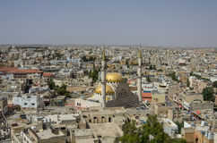 Madaba, Jordan - June 3, 2016: Panoramic view over the town cent royalty free stock photo