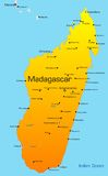 Madagascar. Abstract vector color map of Madagascar country Royalty Free Stock Images