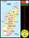 Madagascar Administrative divisions Royalty Free Stock Image